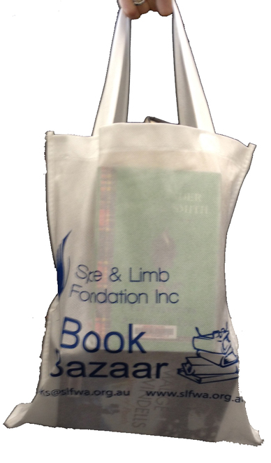 Fill a a bag of books for $15.00 from Book Bazaar