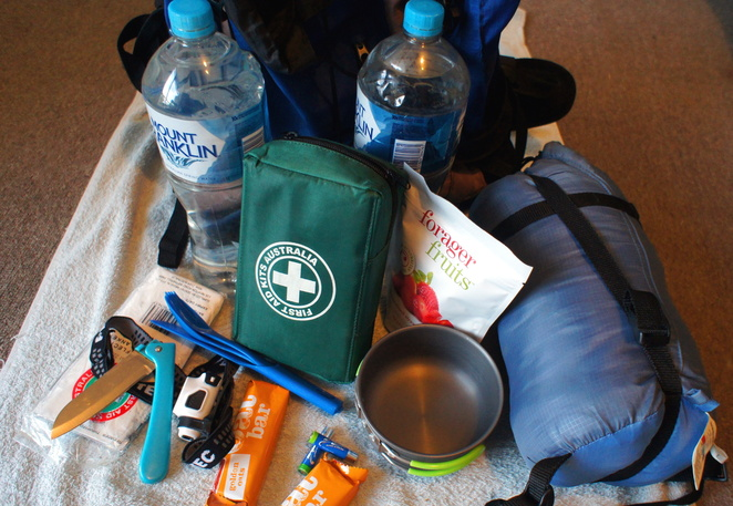 It is easy to put together a go bag if you need to quickly evacuate