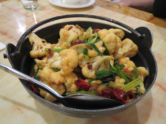 Go-In Chinese Restaurant, Grilled Cooked Cauliflower, Adelaide