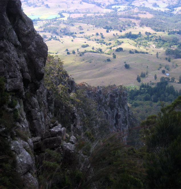 The gorge you must make your way up and down on Mt Maroon