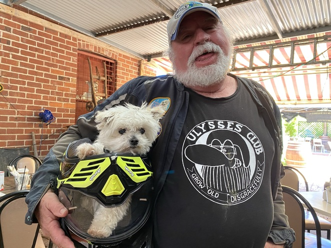 I ride with Chloe for dementia