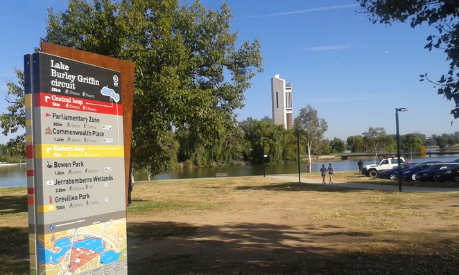 lake burley griffin, central loop, canberra, walking paths, walks, ACT, commobwealth park, kings park