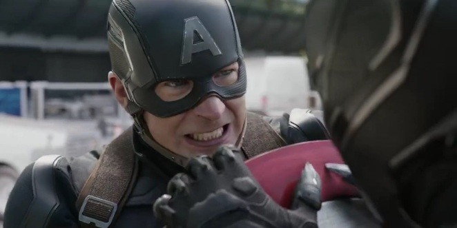 Captain America and Black Panther battle in MARVEL's Captain America: Civil War
