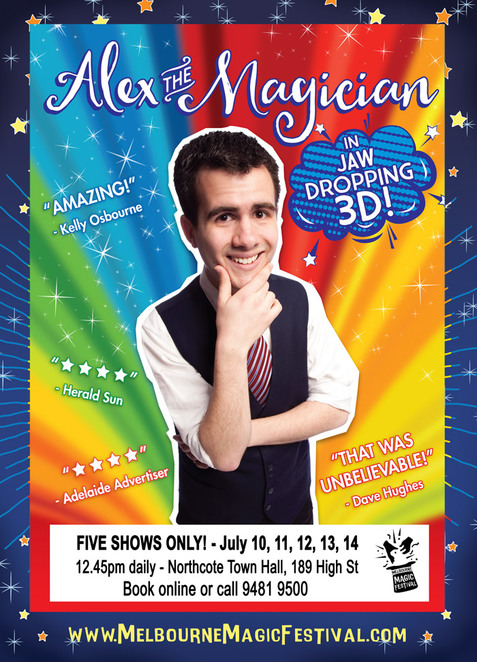 Melbourne Magic Festival,Alex the Magician,Australia's Got Talent Magician,Totally Wild,Today Show magician,Kids' WB Magician,Morning Show magician,Gentlemen of Deceit,kids magicians,Festival Melbourne,