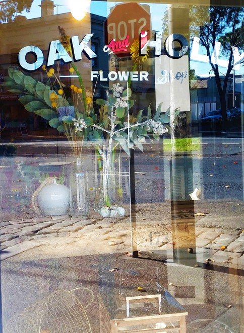 OakandHollyFlowerShop, Carlton, embroidery, Australian natives, life drawing, flowers, Spring racing, parties, memorials, engagements, Valentine's Day, floral crowns, terraniums, corsage, awards ceremonies, Melbourne