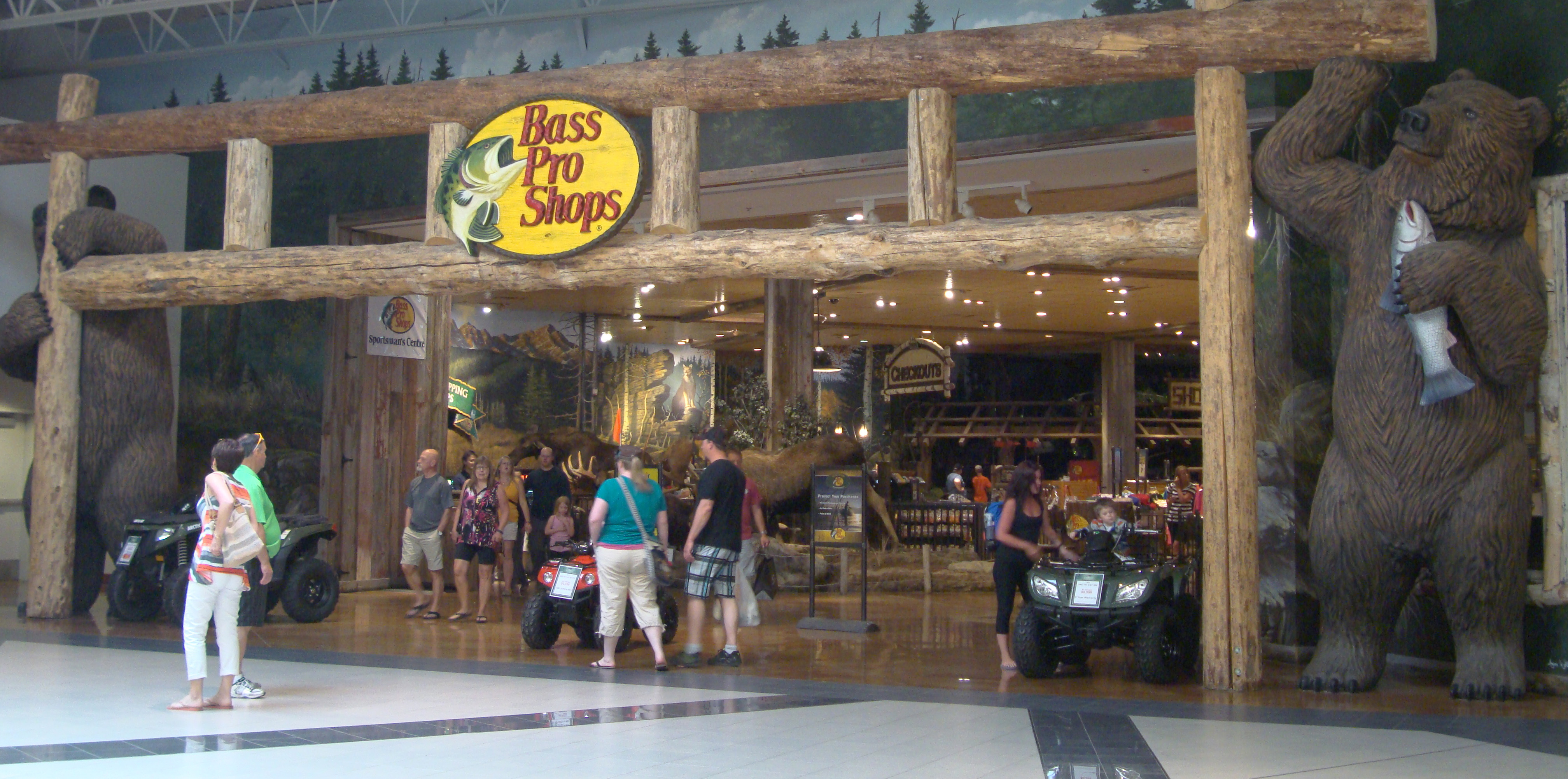 About Bass Pro Shops Tacoma. The first thing you need to do as soon as you enter our lobby is look around and up! You will be amazed at how artisans have captured the beauty and outdoor opportunities found in the Pacific Northwest. Massive log and rock work, a large indoor aquarium and water fall feature stocked with native fish species, hand Location: S Hosmer St, Tacoma, , WA.