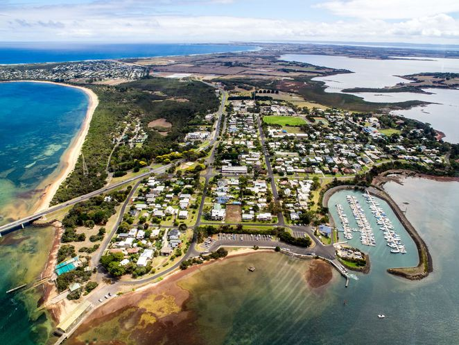Phillip Island Helicopters Ride, Aerial View of Phillip Island, Aerial View of Cape Woolamai, Cape Woolamai Phillip Island, Churchill Island, San Remo, San Remo Bridge, Cape Woolamai, Woolamai Surf Beach, Newhaven Phillip Island