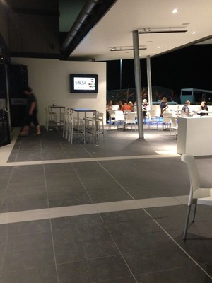 Spacious outdoor seating area