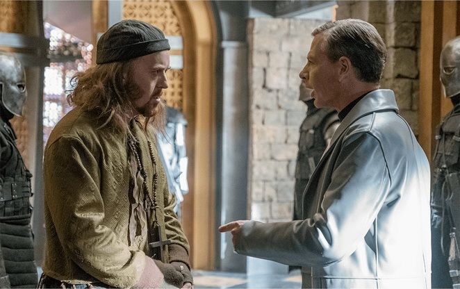 Robin Hood 2018 Film Review Movie Tim Minchin Ben Mendelsohn Friar Tuck Sheriff of Nottingham