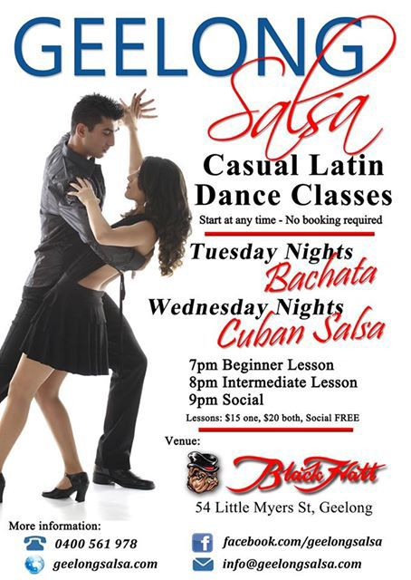 Salsa Dance classes at Black Hatt Hotel Geelong