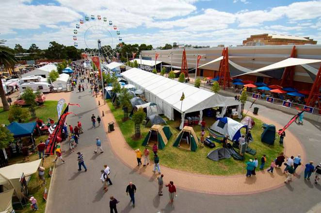 Adelaide Showgrounds, Summer Bridal Expo, Carnevale, Tomato Battle, Monster Slam, Rallycross, Xmas Craft and Gift Fair, Caravan and Camping Show