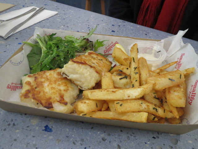 Smallfry Seafood, Grilled New Zealand Hoki and Chips, Adelaide