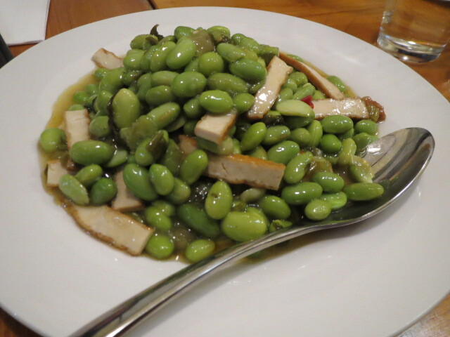 That Restaurant on Gouger, Stir-fried Broad Beans, Bean Curd & Chinese Chutney, Adelaide