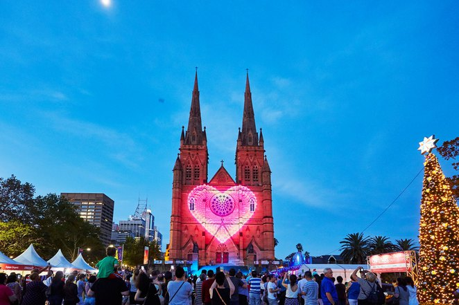 The Lights of Christmas, St Marys Cathedral, Christmas, Family