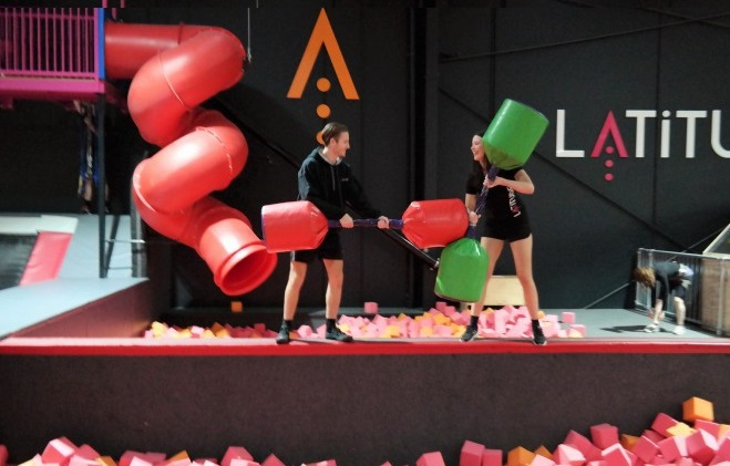 Trampoline park,Indoor Adventure Park,Abseiling,Dodgeball,Slack Line,Battle Beam Melbourne,trampolining,dodge ball,climbing wall,indoor basketball,Latitude park melbourne
