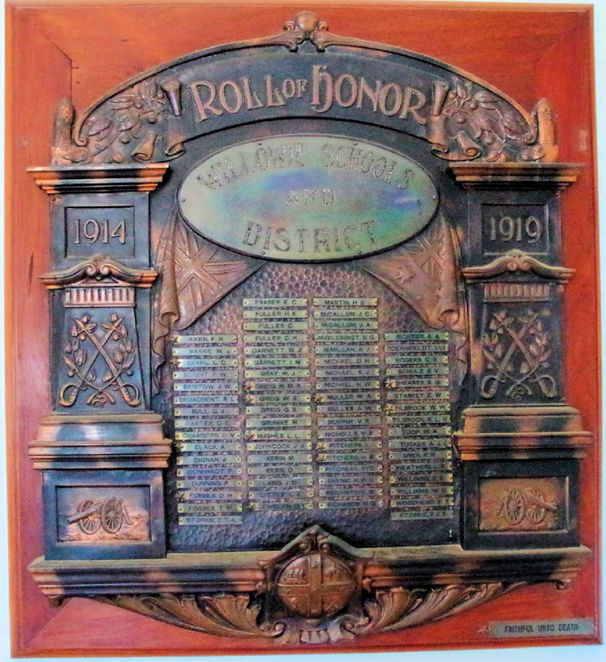 WW!, Honour Roll, Willowie HAll