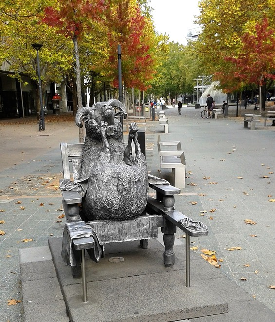ainslies sheep, city walk, canberra, ACT, public art, sculpture,