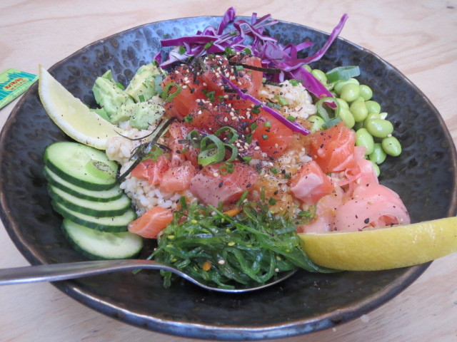 Beach Bum Hawaiian Kiosk, Salmon Poke Bowl, Adelaide