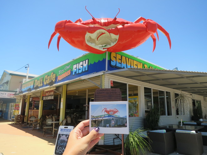 big things, australia, road trip, attraction, tourist, queensland, brisbane, cairns, cardwell, crab, crab sandwich, big crab