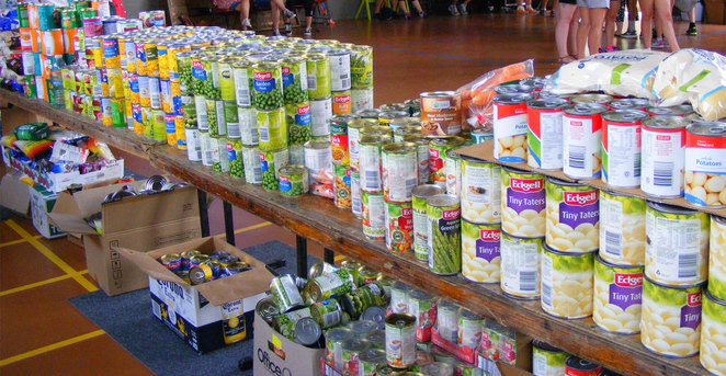 Even simple food items can make a difference to a family in need