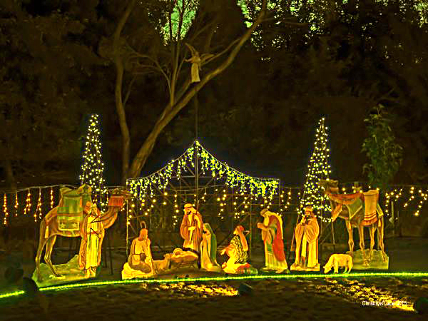 Christmas, lights, display, pegandbill, Lobethal, 2016, nativity,