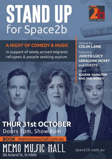 Comedy Night Space2b Judith Lucy Colin Lane