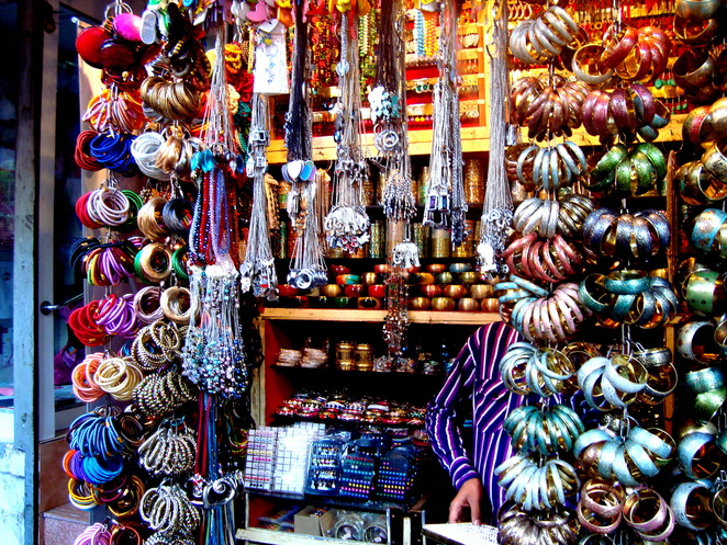 Jewellery stall at Colaba