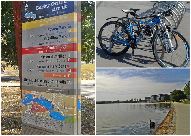 eastern loop, lake burley griffin, cycle paths, canberra, lake burley griffin circuit, ACT, bike riding