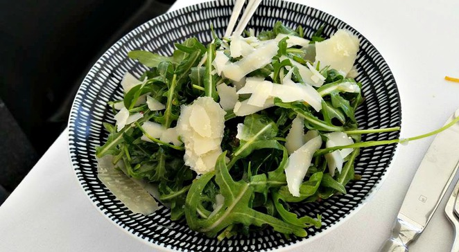 fort denison, fort denison restaurant, sydney restaurants with a view, rocket salad