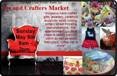 GoldCCast Potters, Art & Crafters Market, Mothers Day Market Day