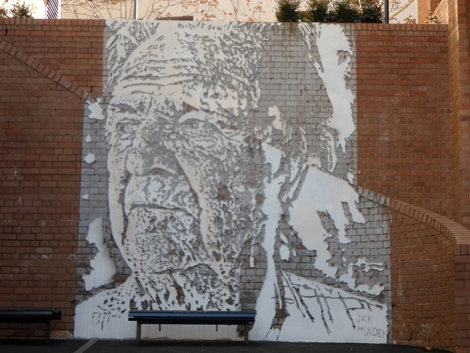 jack mundey, vhils, vhils the rocks, street art the rocks, jack mundey art