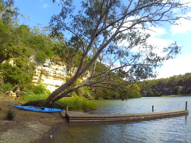Kayaking and camping on the Glenelg River.