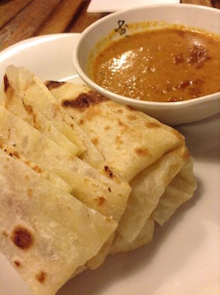 Laksa King - roti with satay sauce #BED