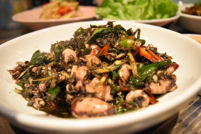 Long Chim Sydney - Baby squid with chillies, green peppercorns and holy basil