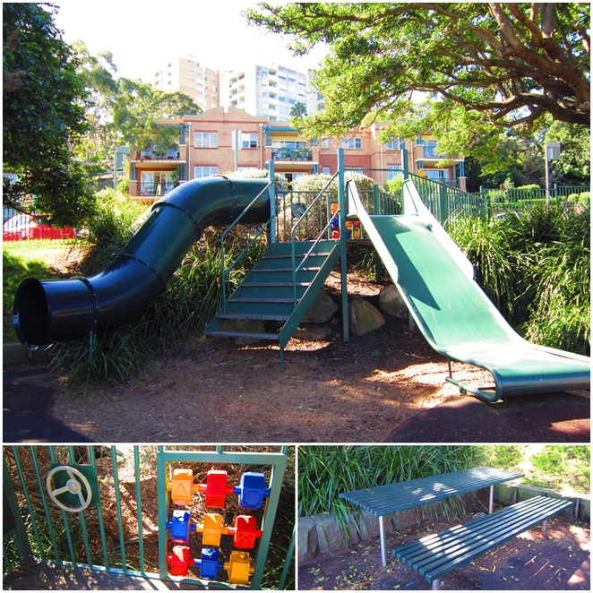 Merrett Playground, Waverton Peninsula, Waverton Station, waverton Park, Sydney playground, tunnel slide,