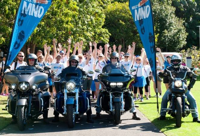 motor neurone disease, mndq, hog, denim and diamonds, springwood, harley davidson, pillion passenger