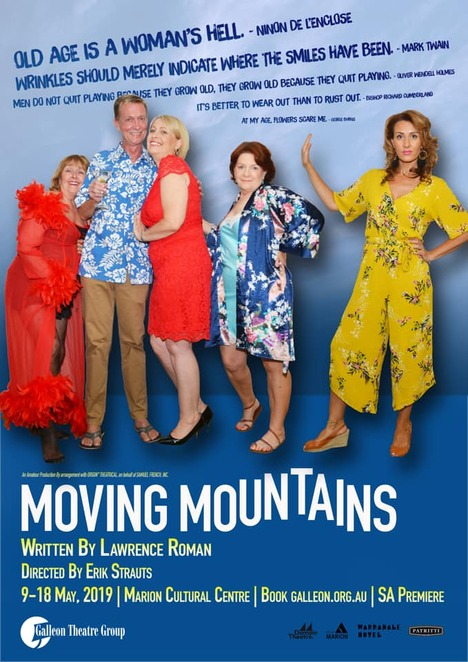 Moving Mountains, Brittany Daw, Lawrence Roman, Erik Strauts, Galleon Theatre Group, Marion Cultural Centre, Domain Theatre, Andrew Clark