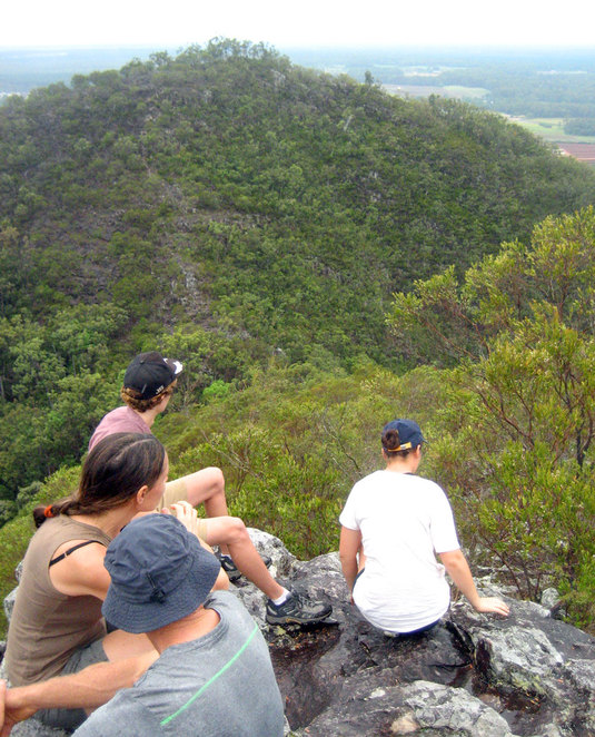 Hikers on the top of Mt Coochin