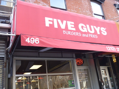 Five Guys Burgers and Fries LaGuardia Pl