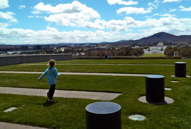 parliament house, canberra, ACT, families, things to do, rooftop,