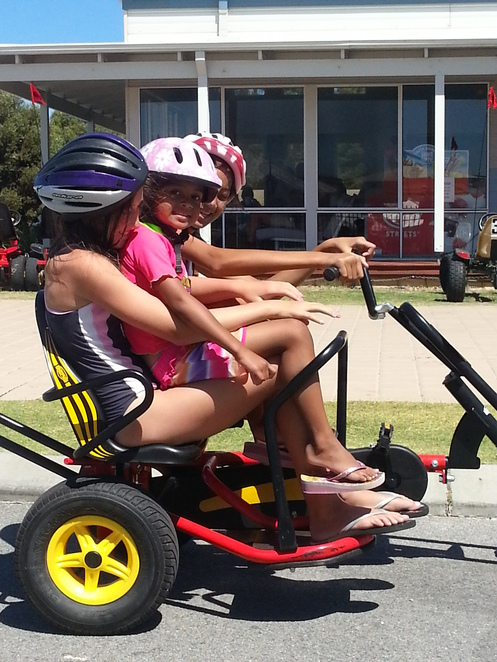 pedal karts, ledge point, holiday