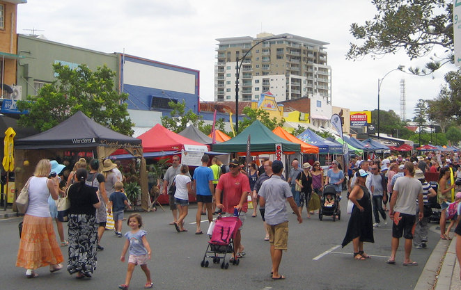 Redcliffe Markets on a Sunday