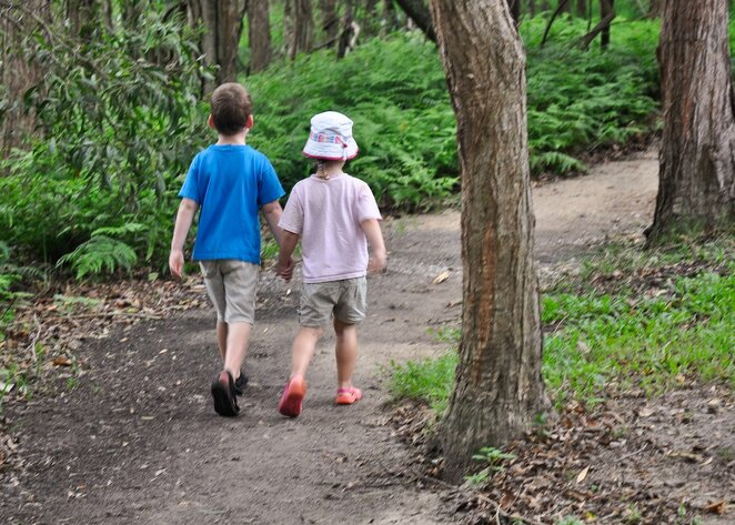The walking trails and playground have reopened