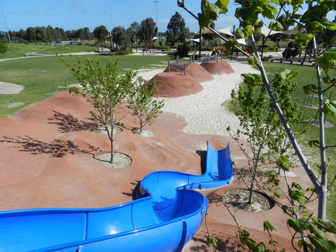 slide, playground in melbourne. Casey Fields, playgrounds in Cranbourne, slippery slide, playgrounds in Casey