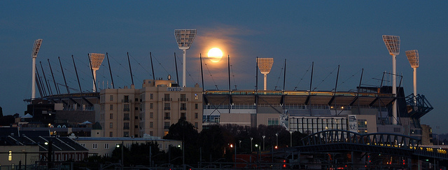 Supermoon over the MCG (Attribution: Flickr - Chris Phutully)