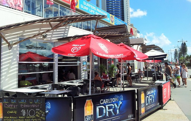 Surfers Paradise, SLSC, $10, buffet, breakfast, cooked, all you can eat, beach, backpacker,