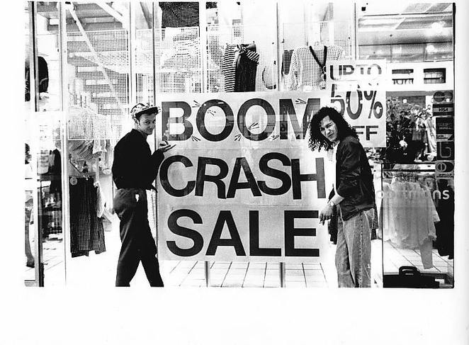 The early days of Boom Crash Opera