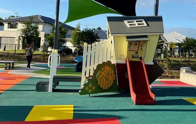 A gorgeous little house provides opportunties for imaginative play