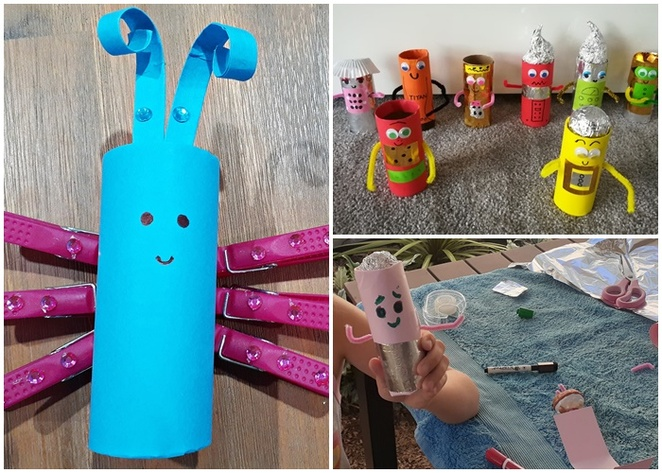 toilet roll craft, paper craft, rainy day, activities, crafts, school holidays, children, paper crafts, things to do, indoors, coronoavirus, how to, school holiday crafts, preschoolers, toddlers, primary school age, australia,