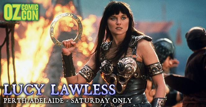 Lucy Lawless-https://www.facebook.com/OzComicCon/timeline